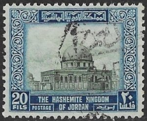 JORDAN 1955-64 20f DOME OF THE ROCK Jerusalem Wmkd Issue Sc 332 VFU