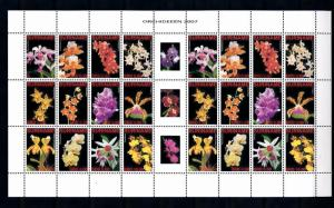 [SUV1419] Surinam Suriname 2007 Flora Flowers Orchids Sheet with tab MNH
