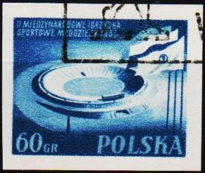 Poland. 1955 60g (Imperf.) S.G.941 Fine Used