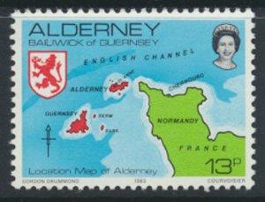 Alderney  SG A7  SC# 7 1983 Definitive   Map  MNH  see scan