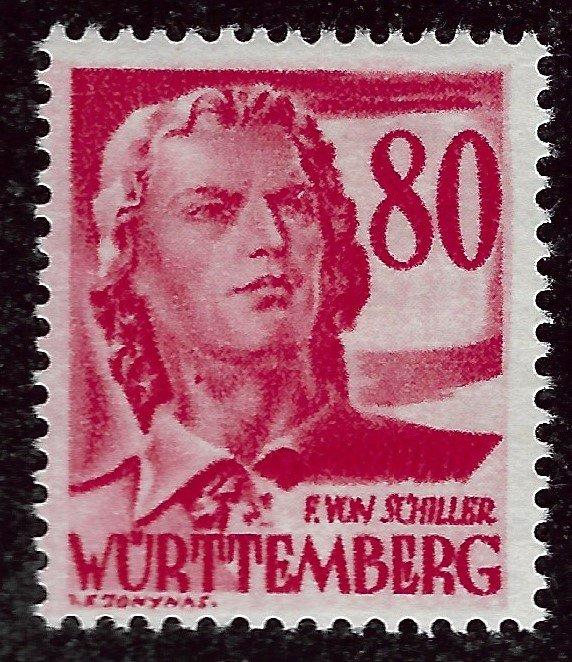 Wurttemberg French Zone SC 8N36  Mint VF....Specialty Bargain!!