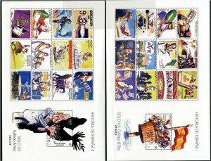 HERRICKSTAMP NEW ISSUES SPAIN Sc.# 4199-4200 History, Gallego & Rey Comics S/S