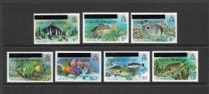 FISH - CAICOS ISLANDS #1-7  MNH