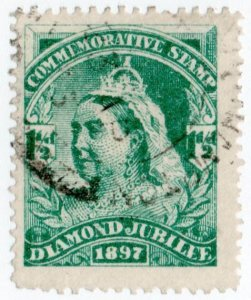(I.B) QV Cinderella : Unofficial Diamond Jubilee Issue ½d (1897)
