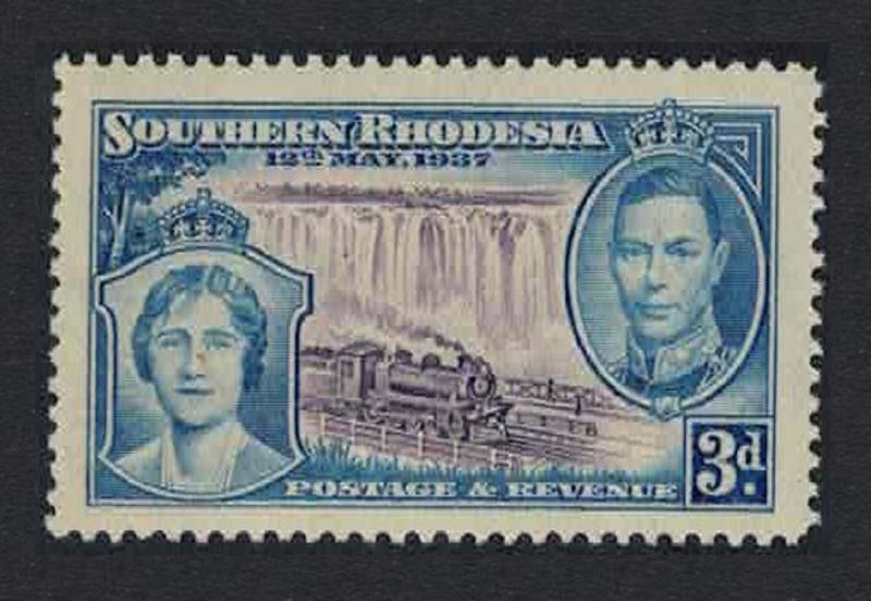 S. Rhodesia Trains Coronation 1v 3d Key Value of the set SG#38