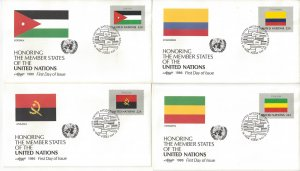United Nations New York 471-92 FDC 1986 Flag Series Artmaster Cachet
