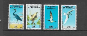 BIRDS - WALLIS & FUTUNA #214-217  MNH
