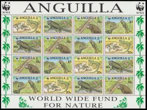 Anguilla WWF West Indian Iguana Sheetlet of 4 sets SG#1004-1007 SC#968 a-d