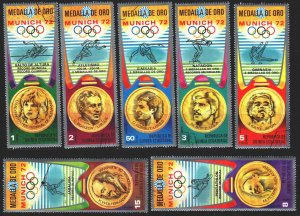 Equatorial Guinea. 1972. 163-69. Munich, summer olympic games. USED.