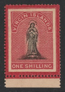 BRITISH VIRGIN ISLANDS : 1867 St Ursula 1/- on toned paper, perf 15. MNH **