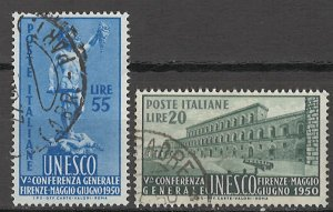 COLLECTION LOT # 5773 ITALY #533-4 1950 CV+$19