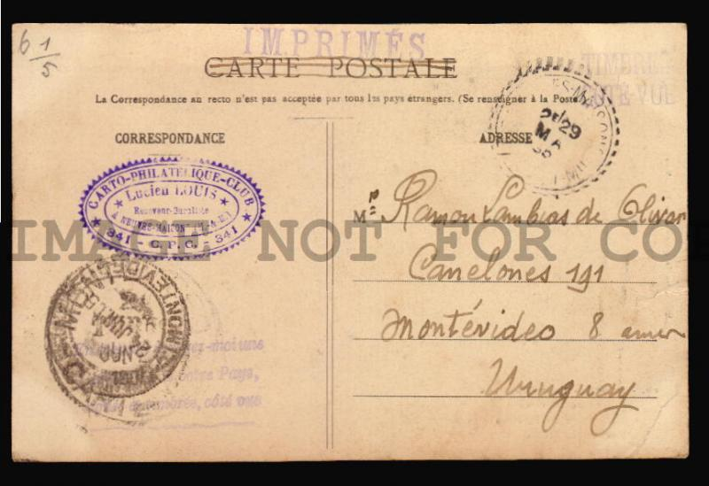 FRANCE 1905 CHERUB ANGELS  postcard MAXI maxiumum CARD NEAUVES MAISONS