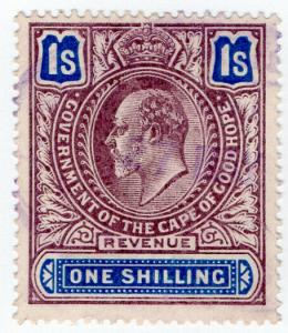 (I.B) Cape of Good Hope Revenue : Duty Stamp 1/-