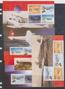 Ireland - 1998 Aviation Set of 4 Booklet Panes VF-NH #1102a, 1103a, 1104a, 1104b