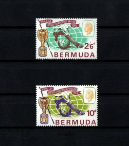 BERMUDA - 1966 - QE II - SOCCER - WORLD CUP - TROPHY - MINT - MNH SET!