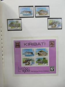 EDW1949SELL : KIRIBATI Beautiful Very Fine Mint NH collection with many Specimen