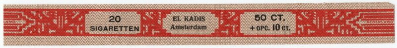 (I.B) Netherlands Revenue : Tobacco Duty 50c + 10c (El Kadis)