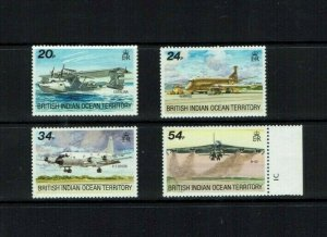 BIOT: 1992 Visiting Aircraft,  MNH set