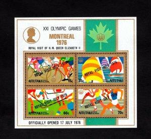 AITUTAKI - 1976 - OLYMPICS - CYCLING - SAILING ++ ROYAL VISIT- MINT MNH S/SHEET!