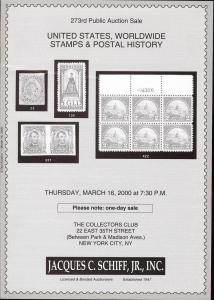 United States, Worldwide Stamps & Postal History, Schiff 273