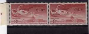 Ireland 1954 Sc.# C4  ANGEL Single of 8p in pair MNH