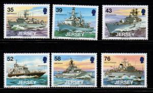Jersey Sc 1327-32 2008 Naval Vessels stamp set mint NH