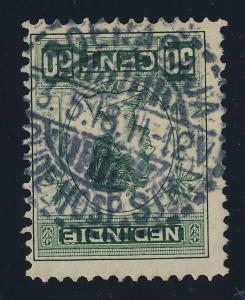 DUTCH EAST INDIES - 1918 - MiNr.122 SOERABAJA / OUDE HOSP. STR. CIRCLE DS