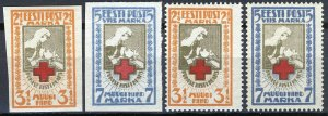Estonia 1921, Red Cross set MNH, Mi 29-30 A and B, Cat 20€ (E10015)
