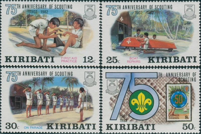Kiribati 1982 SG189-192 Scouting set MNH