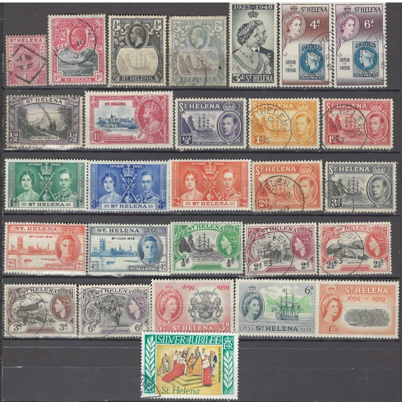 COLLECTION LOT OF #1012 ST HELENA 28 STAMPS 1890+