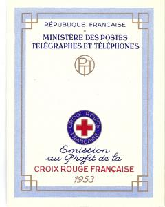 France, B282a, Red Cross Complete Booklet,**MNH**