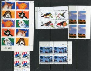 US Postage Stamps (YEAR 1998) Blocks/4 FACE=$8.32.