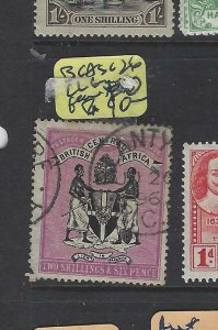BRITISH CENTRAL AFRICA (PP2501B)  ARMS 2/6 SG 26 LL CORNER TORN  FU