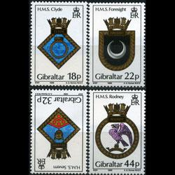 GIBRALTAR 1988 - Scott# 528-31 Navy Crests Set of 4 NH