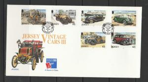 Jersey 1999 Vintage Cars FDC SG 905/10
