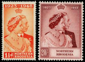 NORTHERN RHODESIA SG48-49, COMPLETE SET, NH MINT. Cat £100. RSW.