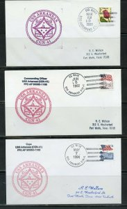 USS ARKANSAS (CGN-41)  LOT OF 15 COVERS 1994-1991 WITH DUPLICATION AS SHOWN (3)