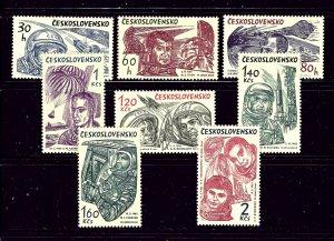 Czechoslovakia 1233-40 MNH 1964 First Astronauts