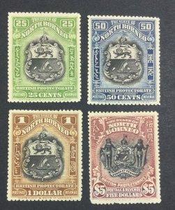 MOMEN: NORTH BORNEO SG #178d/182 3UNUSED/1 MINT OG H($1) £302 LOT #6939