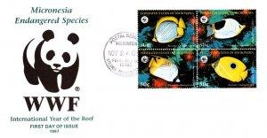 Micronesia, Worldwide First Day Cover, Fish, Marine Life, World Life Fund