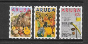 ARUBA #92-94 FORKLORE-MUSIC  MNH