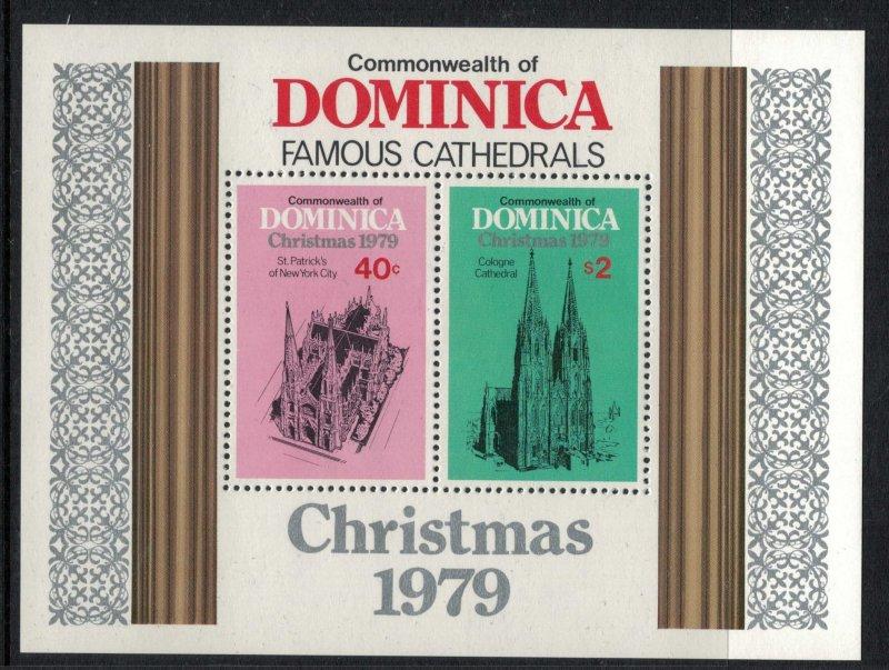 Dominica #654-8* NH CV $2.45 Christmas 1979 set complete with Souvenir sheet