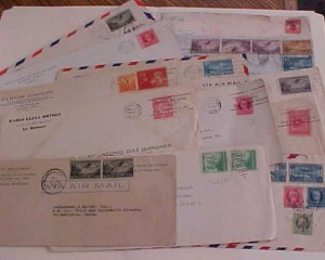 CUBA 16 COVERS  1901-1939  MOSTLY TO USA INCLUDES  REGISTERED