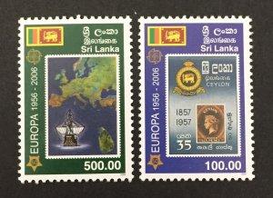 Sri Lanka 2006 #1539-40, Europa 50th Anniversary, MNH.