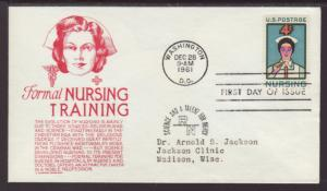 US 1190 Nursing Anderson Typed FDC