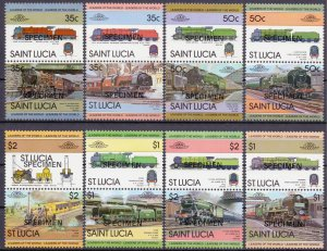 St Lucia. 1983. 612-627. Railway transport. MNH.