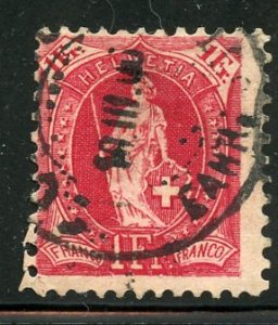 Switzerland # 97, Used. CV $ 10.00