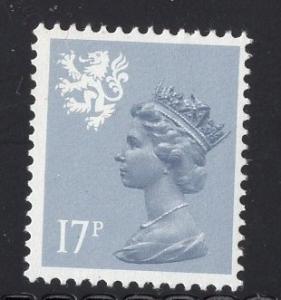 Great Britain Scotland  #SMH30a type I  13 1/2  MNH Q E II  17p blue gray Machin
