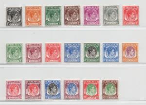 Malaya Malacca - 1949 - SG 3-17 - MNH
