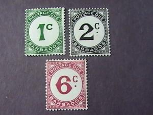 BARBADOS # J4-J6 -MINT/NEVER HINGED---COMPLETE SET---GEOVI---1950
